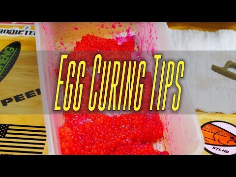 Curing Salmon Eggs Tips & Tricks   Using Pro Cure Redd Hot Double Stuff
