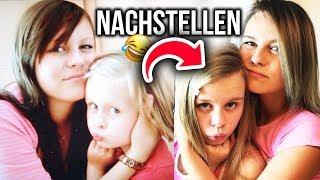 PEINLICHE Kinderfotos NACHSTELLEN 😂  mit meiner SCHWESTER  🙌🏼 | Dagi Bee