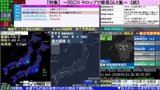 BSC24-第1 地震警戒放送24時 防災情報共有(地震・噴火・異常気象等)【読み上げあり】
