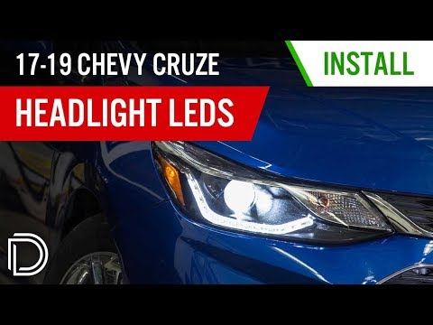 45% Brighter Low Beams For Your 2017-2019 Chevrolet Cruze! | LED Headlight Bulb Install