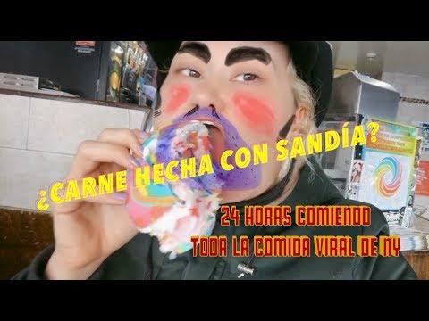 24 HORAS COMIENDO TODA LA COMIDA VIRAL DE NY