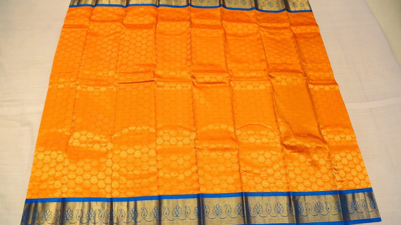 yellow silk saree with ananda blue border ssfeb2o4a9745
