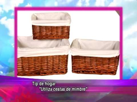Por la ma ana tip de hogar cestas de mimbre youtube - Como forrar cestas de mimbre ...