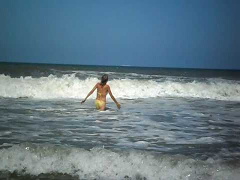 Swimming On The Jacksonville Florida Beach Rip Curs
