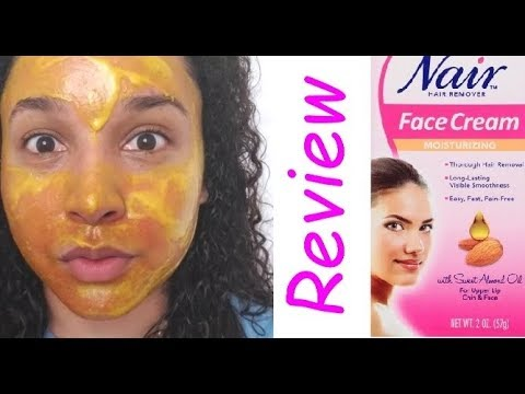 Review Nair Facial Hair Remover Cream Youtube