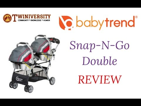 Baby Trend Snap N Go Double Stroller Youtube