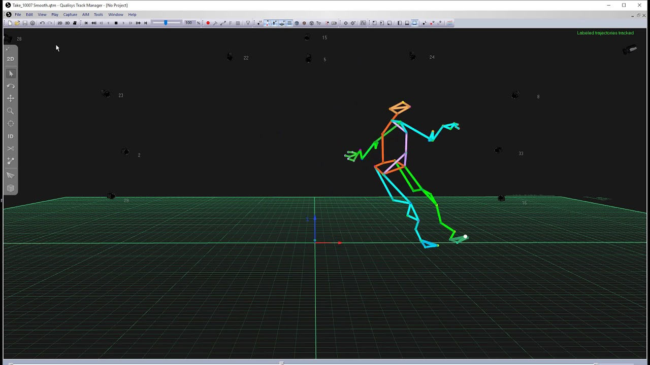 Optical motion capture QTM
