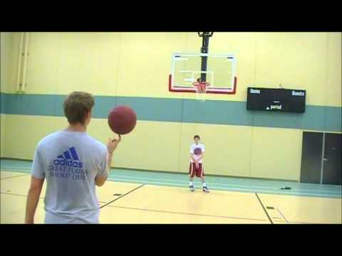 **UNBELIEVABLE**The Spin/Punch Basketball Shot!