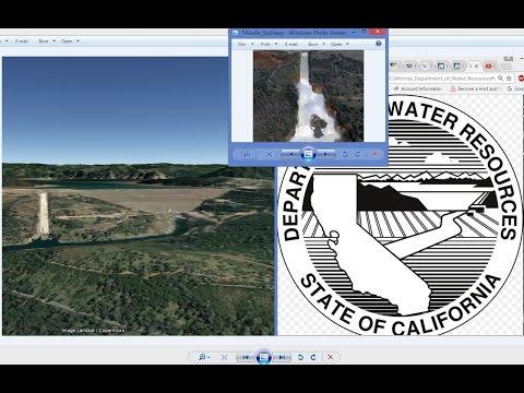 LOGO SHOWS BROKEN SPILLWAY! Oroville Dam Department Water Resources