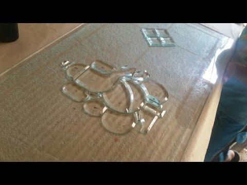 Glass to glass design /bewel glass pic on glass/glass etching/acid etching on glass/india glass