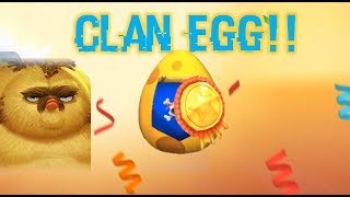 My First 4 Star Hatch Using Clan Egg!!! | Angry Birds Evolution