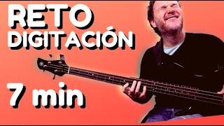 EJERCICIOS DIGITACIÓN Bajo • [RETO 7 minutos] • Practica conmigo • Aprender a tocar el bajo