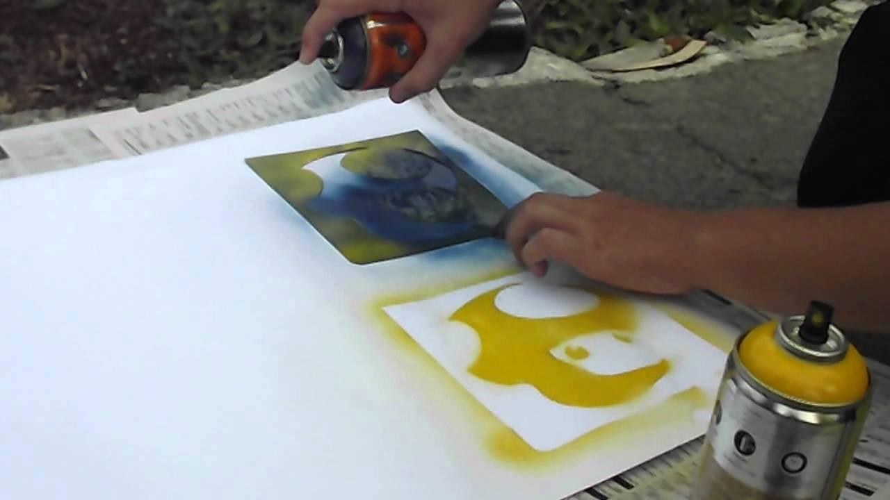 Top Aulas de Artes - Primeiro contato com o grafite: Stencil - YouTube YH68