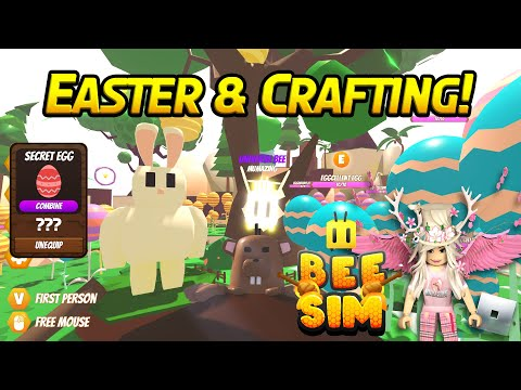 NEW Roblox BEE SIM Crafting and Easter Event Tips and Tricks!