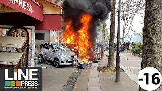 Défilé du 1er mai. Scènes de guérilla urbaine dans la capitale / Paris - France 01 mai 2018 thumbnail