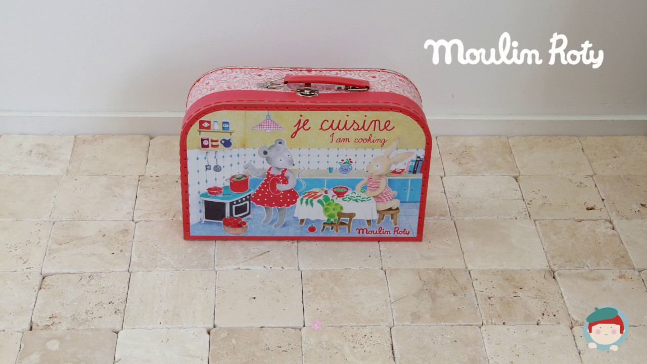 Cooking Suitcase Set La Grande Famille Moulin Roty On Jeujouet