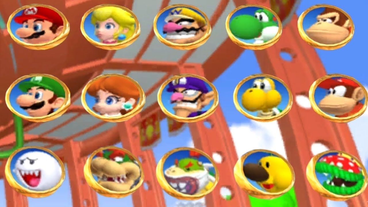 Mario Power Tennis - All Characters