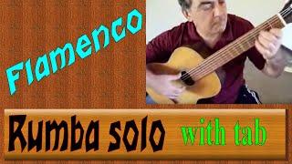 Flamenco - Rumba - guitar solo with tab