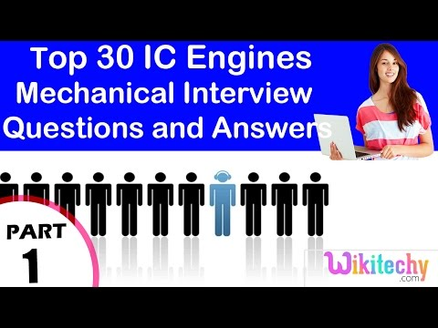 Top 30 IC Engines Mechanical technical interview questions and answers tutorial for fresher