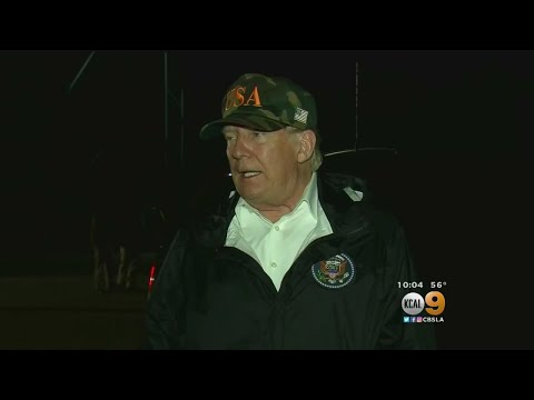 Trump Visits Families Of Thousand Oaks Shooting Victims