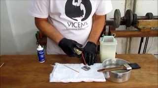 Lâmina de tosa conservação e desinfecção