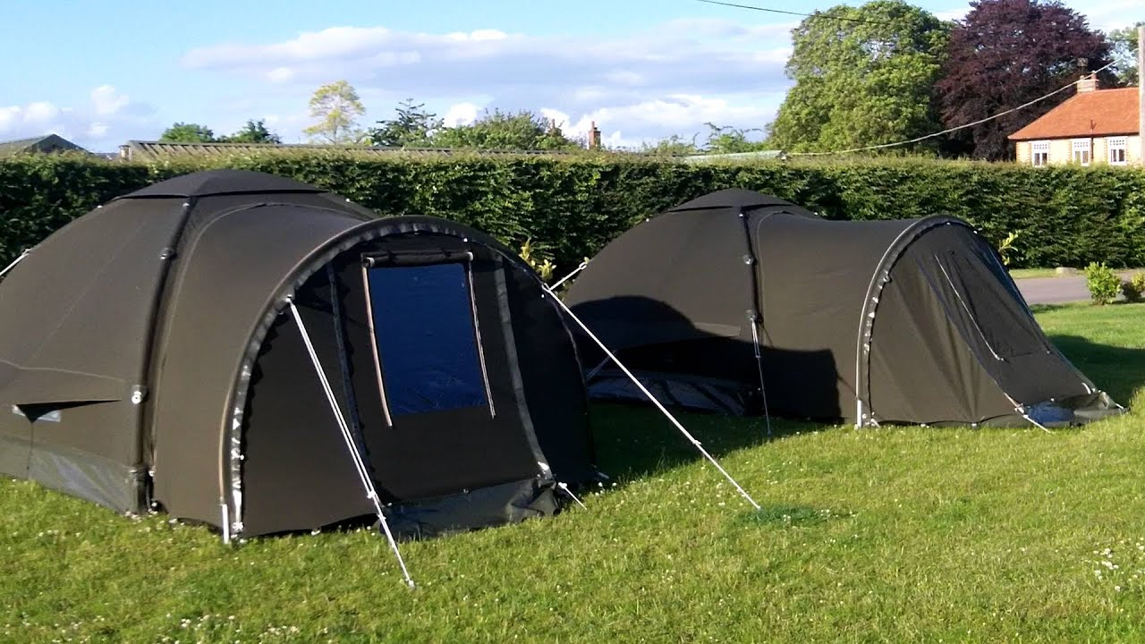 Karsten 240 Inflatable Carp Bivvy (Tent) & Karsten 240 Inflatable Carp Bivvy (Tent) - YouTube