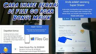 Cara share berkas di aplikasi FILE GO agar dapat bonus thumbnail