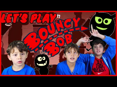"""Let's Play """"Bouncy Bob"""" a Super Simple One Button Game on the  Nintendo Switch Gameplay  """