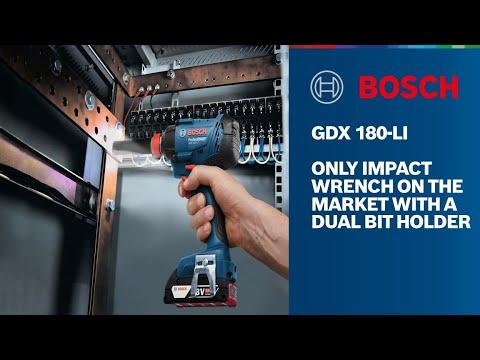 Видео обзор: Гайковерт BOSCH GDX 180-LI