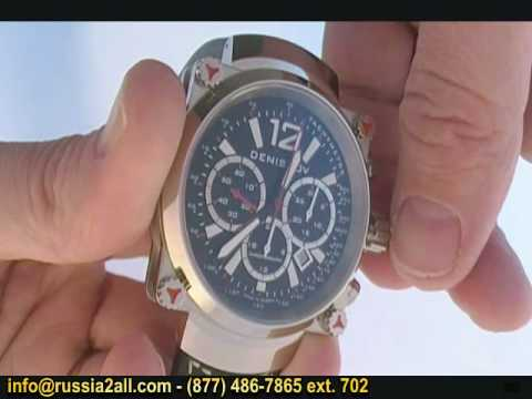 How To Operate A Mechanical Chronograph Wrist Watch Russian