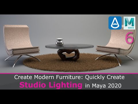 Quickly Create Studio Lighting In Maya 2020 For Modern Furniture