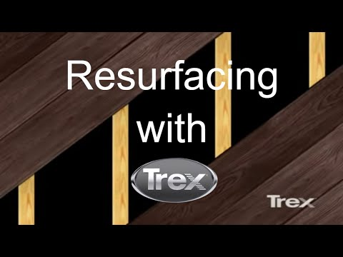 Trex Decking Colors >> Resurface Your Wood Deck with Trex Composite Decking - YouTube