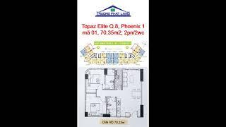 Topaz Elite, Phoenix 1, mã 01, căn 70.35m2 - 2PN/2WC