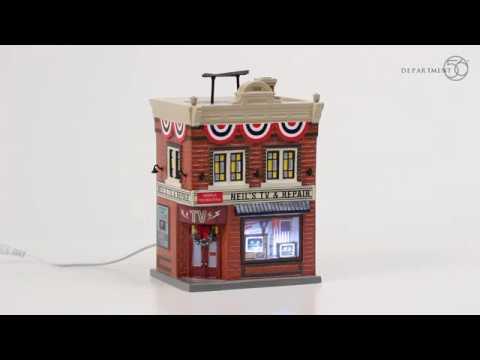 Neil's TV & Repair - Department 56 Original Snow Village - 6003136