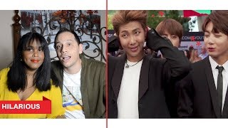 BTS BEING AWKWARD - TRY NOT TO LAUGH REACTION (BTS REACTION)