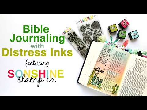 Bible Journaling With Distress Inks featuring Sonshine Stamp Co