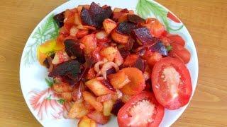 Овощное рагу в микроволновке Простое и очень вкусное блюдо