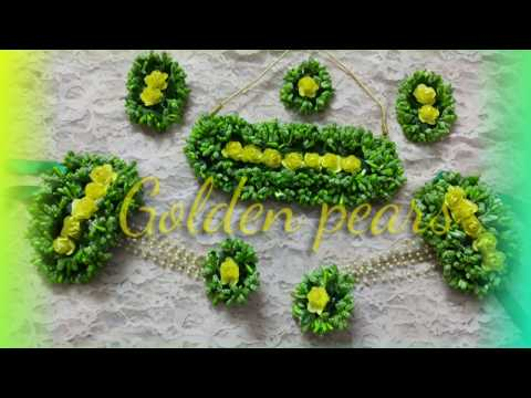 D.i.y how to make handmade artificial flower jewelry for haldi, mehndi 2019