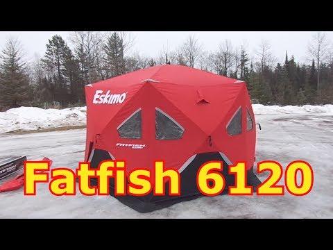 Ice Fishing - Setting Up The Eskimo Fatfish 6120