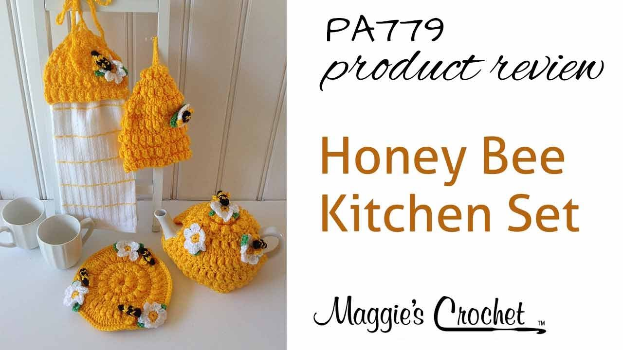 Honey Bee Kitchen Set Crochet Pattern Product Review PA779