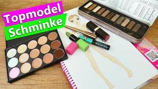 Topmodel malen mit Schminke?! Geht das?! DIY Make Up Experiment | Party Kleid Topmodel