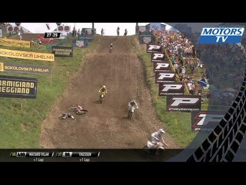 Pauls Jonass big crash MXGP of Czech Republic