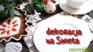 Dekoracja stołu na Wigilię - ciastek - Kotlet.TV