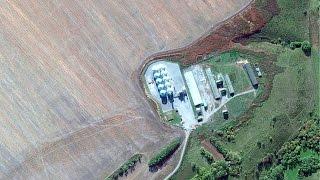 Съемки из космоса объектов Эксперт-Агро - Строительство элеваторов и зерноочистительных комплексов