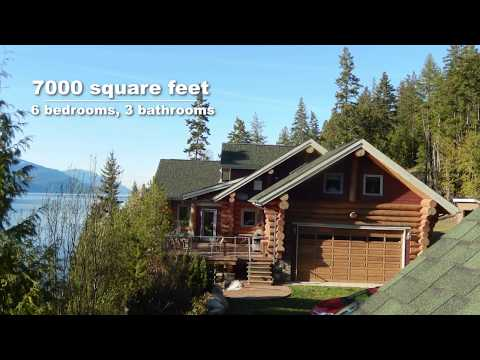 Luxury Log Homes For Sale 27 Acres | Pristine Waterfront Property | BC Canada
