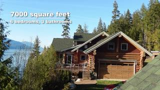 Luxury Log Homes For Sale On 27 Acres | Pristine Waterfront Property | BC Canada