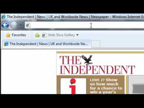 Internet - World Wide Web - Using The Browser Address Bar Computer Lesson