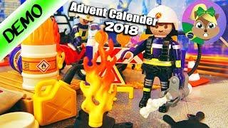 Playmobil CALENDÁRIO DO ADVENTO 2018 Grupo de Bombeiros na construção - 24 portinhas surpresa