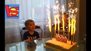 Супер вкусный торт празднуем 1000 подписчиков на youtube видео для детей горят свечи
