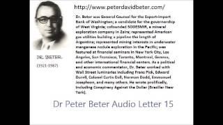 Dr. Peter Beter Audio Letter 15: Rockfeller; Soviet; Underwater Missile - August 2,1976
